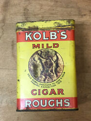 Vintage Kolbandrsquos Mild Cigar Roughs Tobacco Can With Paper Insidewow