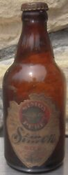 Simon Pure Beer Bottle Buffalo Ny With Paper Label
