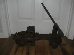 Antique Vtg Scarce Noma Wood Military Army Artillery Truck Christmas Lights Toy