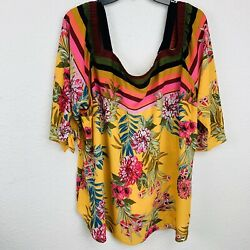 Chenault Multi Cold Shoulder Women Blouse. Size 3X. New With Tags $16.19