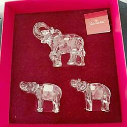 Baccarat figurine Elephant Parent and Child