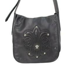 Chrome Hearts Bag-Mail  Mail Bag Bs Flare Patch Decorative Leather Shoulder $3,023.49