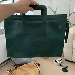 Vintage Rolex Green Attachandeacute Briefcase Bag For Display And Collectible Watch