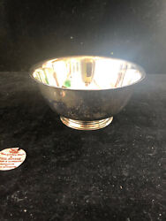 Vintage 6 Silverplate Paul Revere Sons Of Liberty Reproduction Bowl Oneida
