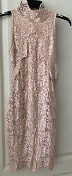 Nwt Nightcap Victorian Mini Dress Lace 355 Size 3 Millennial Pink Made In Usa