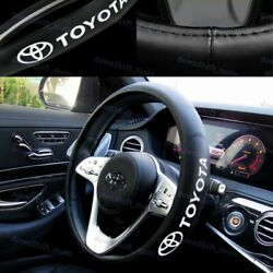 New Faux Leather For TOYOTA New Black 15quot; Diameter Car Auto Steering Wheel Cover