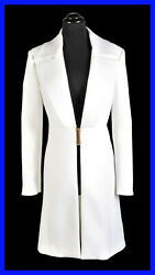 New Versace Collection White Trench Coat 40 - 4