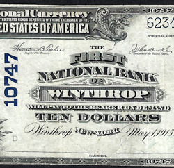Ny 1902 10 ♚♚winthrop New York♚♚ Hard To Find One Bank Town