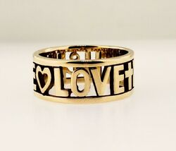James Avery 14k Gold Faith Love And Hope Ring Size 9