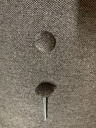 Finished Buttons Pin Fabric 30=3/4andprime Diameter 2 Prong Stype With Soft Shell