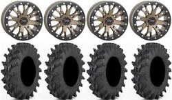System 3 Sb-4 Br 4+3 14 Wheels 27 Outback Max Tires Kawasaki Mule Pro Fxt