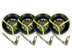 4 Pack 2 Chain Ratchets And Lasso Straps For Tow Truck Wrecker Car Hauler Lift