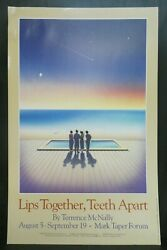 Lips Together Teeth Apart Theater Broadway Window Card Poster 14 X 22