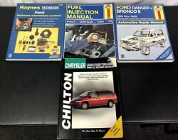 Lot Of 4 Ford /chrysler Auto Repair Manuals 3 Haynes And 1 Chilton