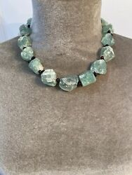Vintage Suzanne Kalan Raw Emerald And Rubellite Necklace