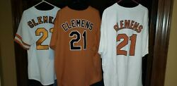 Roger Clemens Jersey Lot Of 2 Throwback 1983, 84 Texas Longhorns, Majestic, 2xl