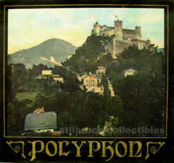 Polyphon Cover Lid Picture For Antique Music Box Germany Large Image With Castle