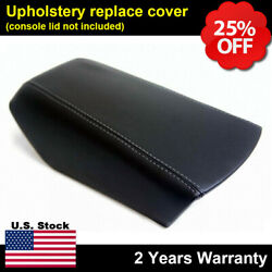 Fits 16-19 Nissan Maxima Leather Center Console Lid Armrest Cover Gray Stitch