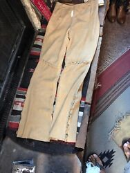Vtg Country Leather Western Bootcut Pants