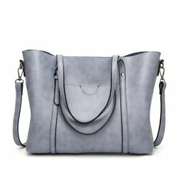 Oil Wax Women MessengerTote Leather Bag