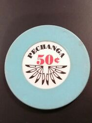 Pechanga Casino California Hard To Find .50 Cent Logo Chip Great For Collection