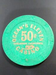 Oceanand039s Eleven Casino California .50 Cent Gaming Chip Great For Any Collection