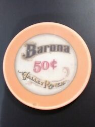 Barona Valley Ranch Casino California .50 Cent Chip Great For Any Collection