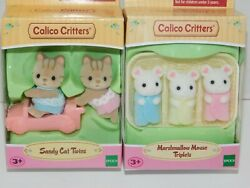 Calico Critters Sandy Cat Twins OR Marshmallow Mouse Triplets