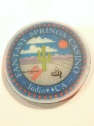 Fantasy Springs Casino Indio California 1.00 Chip Great For Any Collection