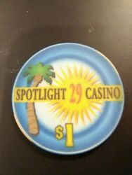 Spotlight 29 Casino California 1.00 Chip Great For Any Collection 1.