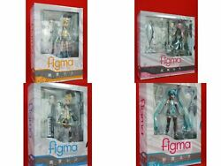 Max Factory Figma Hatsune Miku And Kagamine Rin Lot Of 4 Figure Shipped From Japan