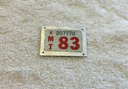 1983 License Plate Tab - Vintage 83 Auto Tag Topper Accessory Chevy Ford Harley