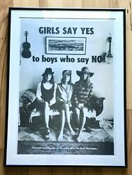 Rare 1968 Anti War Poster. Girls Say Yes To Boys Who Say No. Wanted Museum Piece
