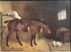 Colin Graeme Roe Andldquoa Friendly Visitandrdquo Oil On Canvas Signed And Framed
