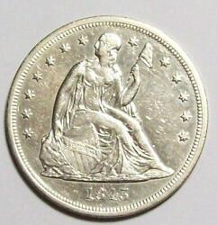 1843-p Seated Liberty Dollar Dipped Au++ / Unc 16c23