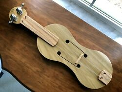 MEDIEVAL STYLE FOLK FIDDLE 2 String by Luthier Scott F. Hall Small Rare Da Gamba