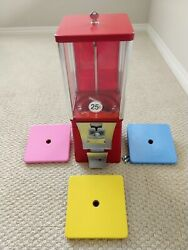 Eagle Red Bulk Vending Machine Gumball Candy Toy. Renovated Tested. 1 Wheellid.