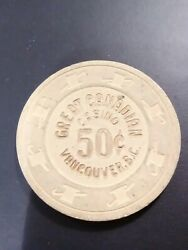 Great Canadian Casino Vancouver B. C. Old. 50 Cent Chip Great For Collection