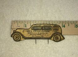 Vintage Visor Service Record Accessory Antique Gas Oil Grease Battery 1920's