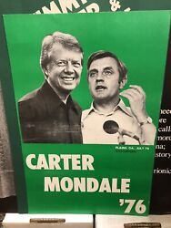 Amazing Jimmy Carter Walter Mondale Campaign Poster Collection 3 Different Pcs