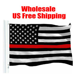 Wholesal Thin Red Line Flag 3x5ft Fire Fighter Firefighter -police American Law