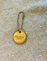 Vintage 1949 Chevrolet Tool Check Out Brass Fob - 49 Chevy Gm Employee Id Tag