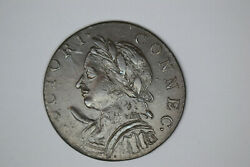 1787 Horned Bust Connecticut Colonial- Awesome Details.  From Local Auction