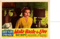 Make Haste To Live 1954 Original Release Lobby Card Dorothy Mcguire +