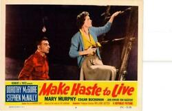 Make Haste To Live 1954 Original Release Lobby Card Dorothy Mcguire +++