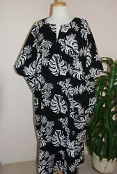 CAFTAN LOUNGER quot; Tropical Moments PEPPERMINT BAY OS FITS MOST 100% Indian Cotton