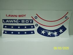 Lawn Boy Stars And Stripes Model 8234ex Decal Set With Bagger Chute Decal Set