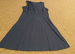 Toad & Co Bluegray Shift Dress Large $8.55