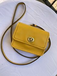 Crossbody Coach Lemon Leather Mini Penny $58.00