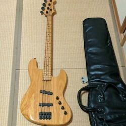 Moon Custom Guitars Pgm Electric Bass Guitar With Soft Case Shipped From Japan